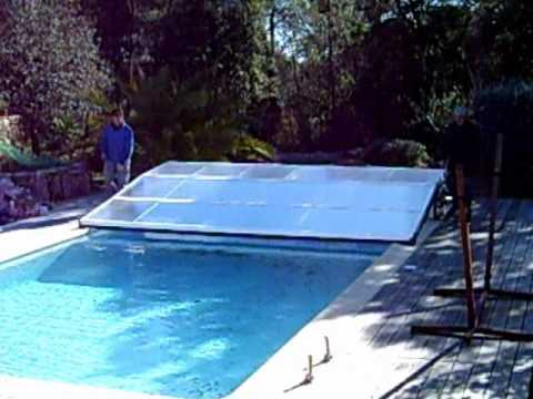 Abri piscine plat telescopique repliable coulissant non for Abri piscine plat