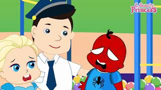 Spiderman Daddy vs Naughty Babies Funny Story New Episodes! Frozen Elsa Superhero Finger Family Son