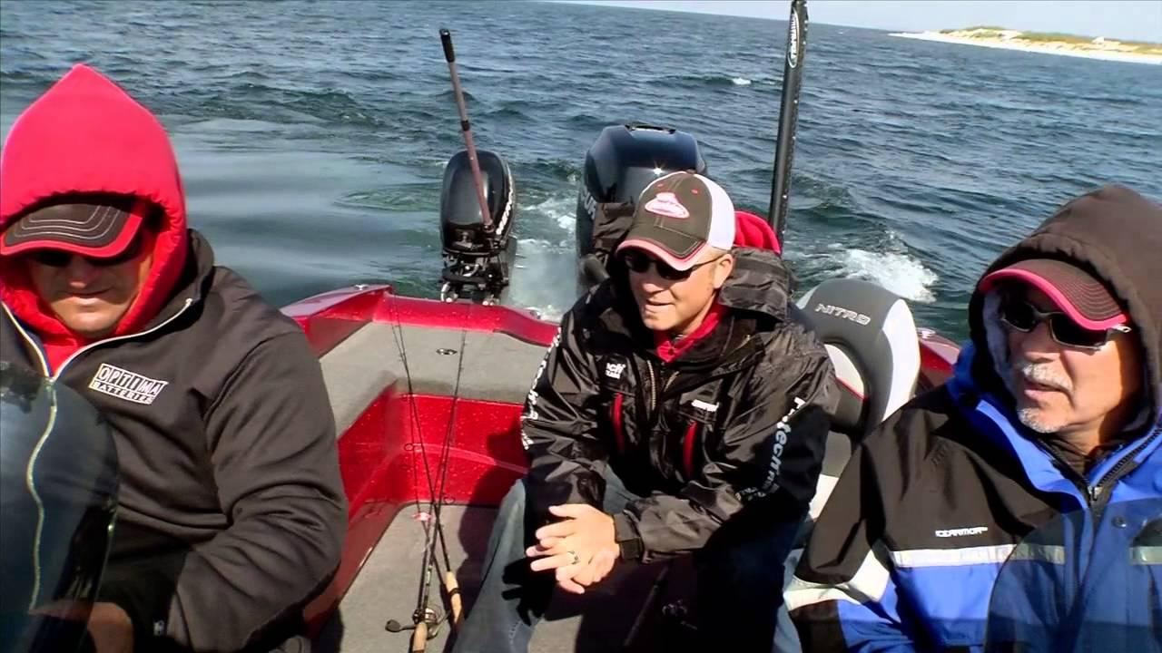 Nitro zv 21 with cisco fishing systems rod holders youtube for Cisco fishing systems