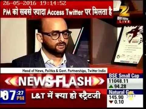 #Modi2years- Zee Business speaks to Raheel Khursheed, News & Government Partnerships, Twitter India