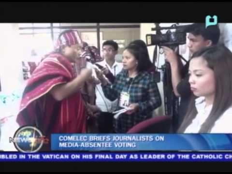 COMELEC briefs journalists on media-absentee voting