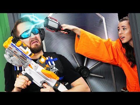 NERF Robot Prison Escape | Hack a Guard Challenge!