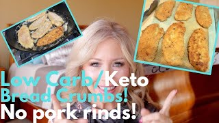KETO / LOW CARB BREAD CRUMBS - NO PORK RINDS - STORE BOUGHT KETO BREAD CRUMBS - REVIEW!