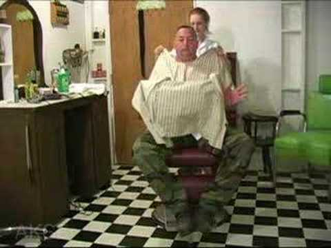 preview video clip -- Barber Barberette shaving video