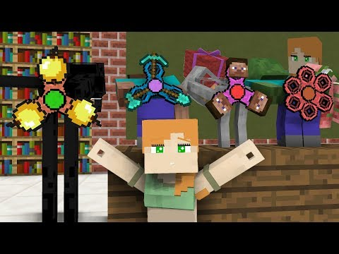 Monster School: Gifts for Alex  - Minecraft animation