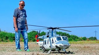 STUNNING HUGE RC BELL UH-1Y HUEY TURBINE SCALE MODEL HELICOPTER FLIGHT DEMONSTRATION
