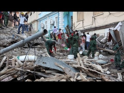 Building collapses in Tanzania