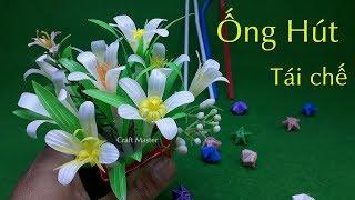 Hướng dẫn làm hoa Handmade tặng bạn gái từ ống hút