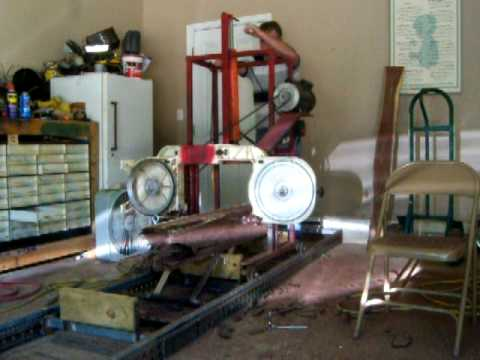 Homemade Bandsaw Sawmill 1 Blade Broke Accident