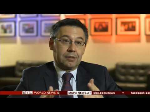 FC Barcelona President Josep Maria Bartomeu interview with BBC Sports Editor Dan Roan