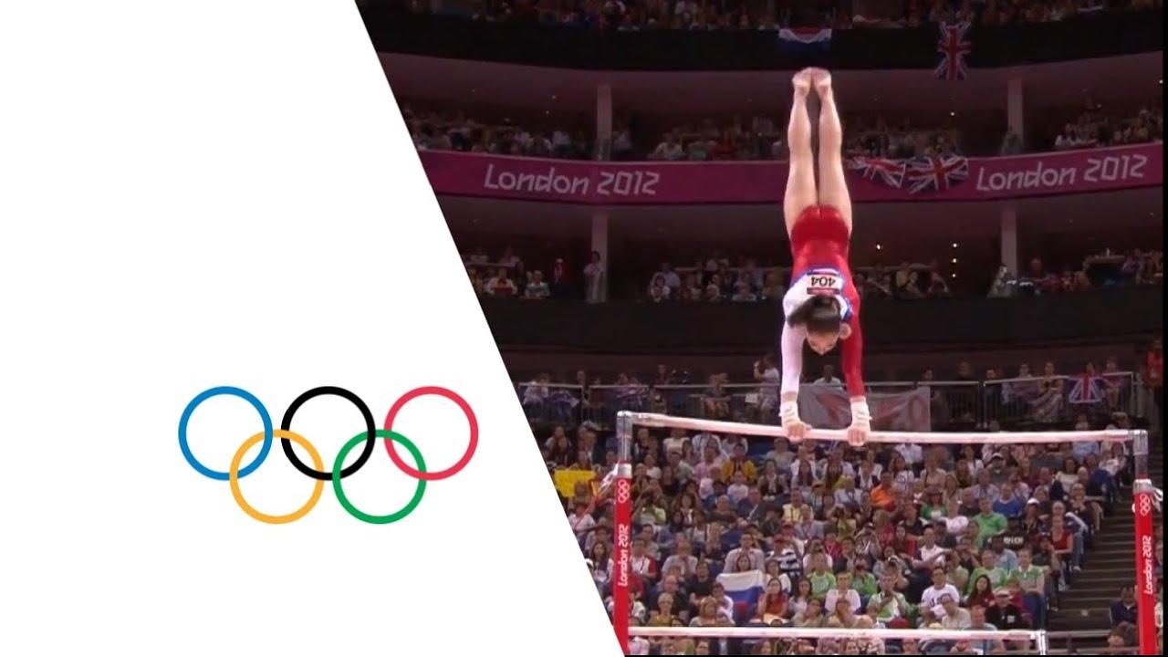 Aliya Mustafina wins GOLD gymnastics uneven bars Russia