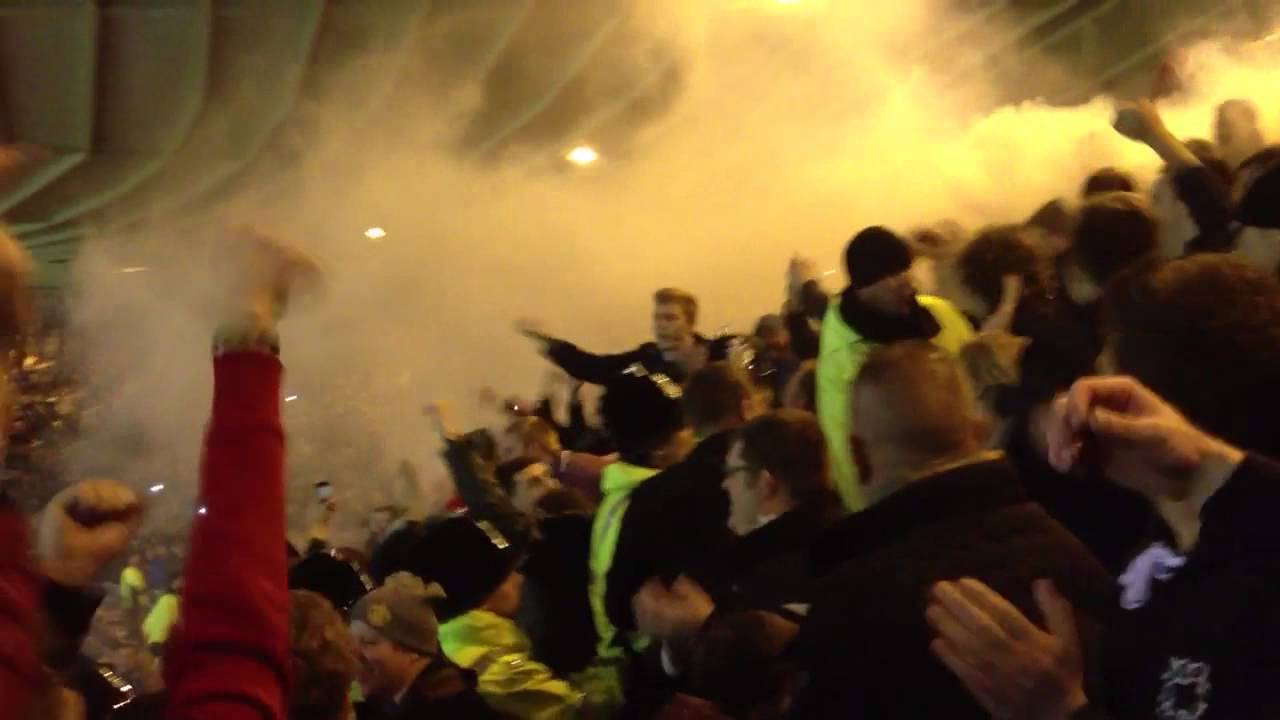 United Fans Flares Manchester United Fans at