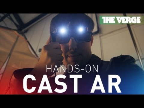 Cast AR virtual reality glasses at Maker Faire 2013