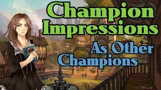 Lumi does champion impressions.. as other champions?
