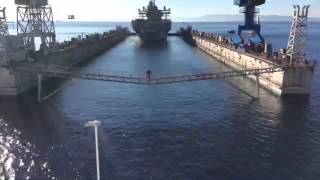 USS Mount Whitney Enters Dry-Dock: Jan. 19, 2015