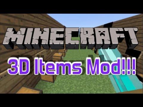 Minecraft Mod Review - 3D Items 1.5.2