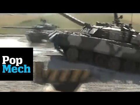 Flying T-90 Russian Tanks and More