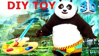 3d printed toy Kung Fu Panda 3 DIY painted crafts for kids. Make custom Po Panda HD