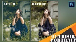 Photoshop Tutorial : Outdoor Portrait Editing - Color Grading
