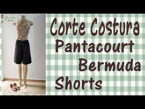 DIY – Pantacourt – Bermuda – Curso de Corte e Costura – Passo a Passo