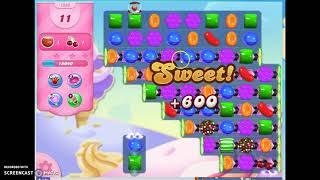 Candy Crush Level 1532 Audio Talkthrough, 2 Stars 0 Boosters