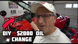 How to change the oil in a Ferrari 458