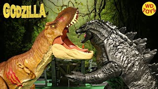 New S.H.MonsterArts 2017 Godzilla vs T-Rex  Jurassic World Fallen Kingdom Unboxing Battle WD Toys