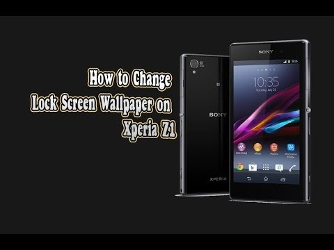 sony xperia z1 how to change lock screen wallpaper on xperia z1 youtube. Black Bedroom Furniture Sets. Home Design Ideas