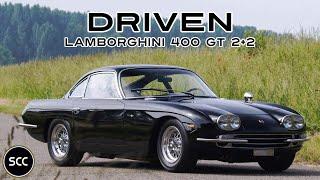 LAMBORGHINI 400 GT 2+2 1967 - Full test drive in top gear - V12 Engine sound | SCC TV