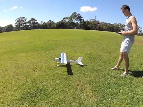First flight of Wilga 2000 RC plane from Hobbyking crash