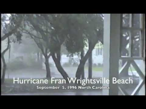 Hurricane Fran PART 1  Wrightsville Beach, NC 1996