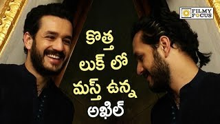 Akhil New Look @his New Movie Launch