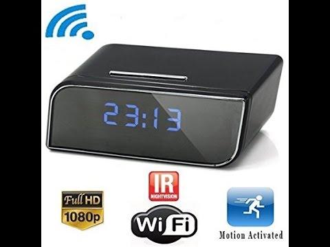 spy alarm clock - espion revielle wifi ip camera alarm