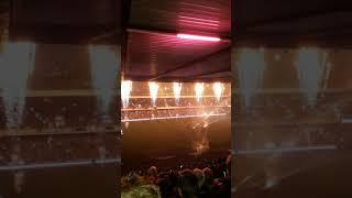 Scotland v South Africa pre game light show