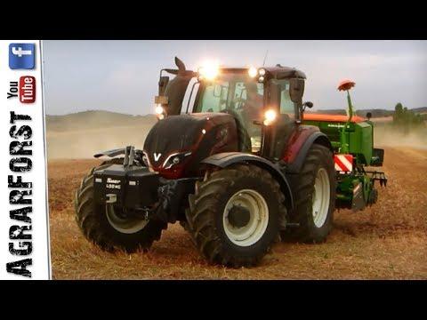 VALTRA TRAKTOREN bei der Bodenbearbeitung 2018 mit AMAZONE Technik