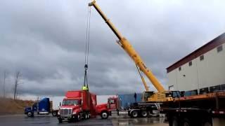 Lane's Cranes Service Rigging Job