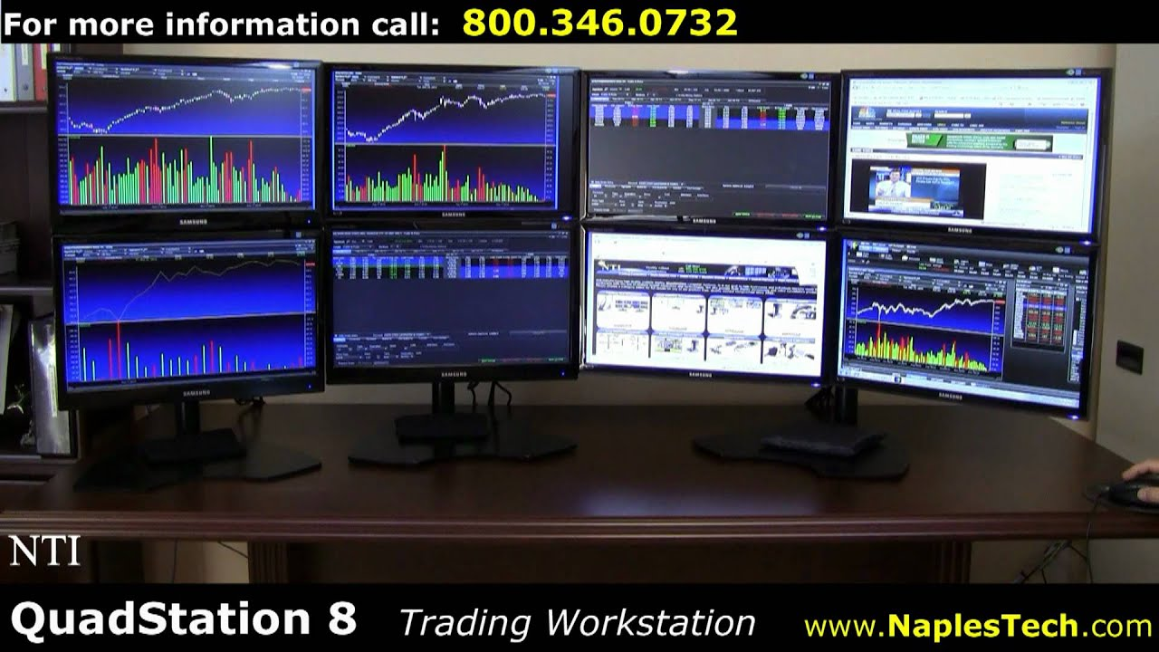 Nti Quadstation 8 Display Computer For Trading Hd1080