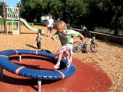 Ollie Running On Playground Spinning Circle Youtube
