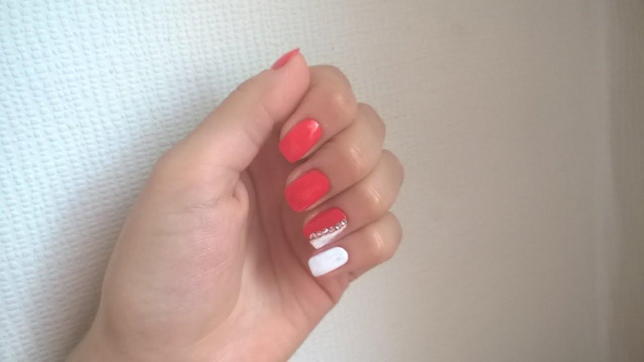 Красный маникюр со стразами : 106 фото дизайна ярких ногтей nails-health 13