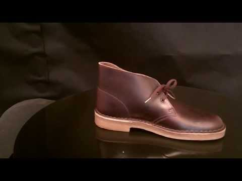 Clarks Originals Desert Boot Burgundy Leather schoenen