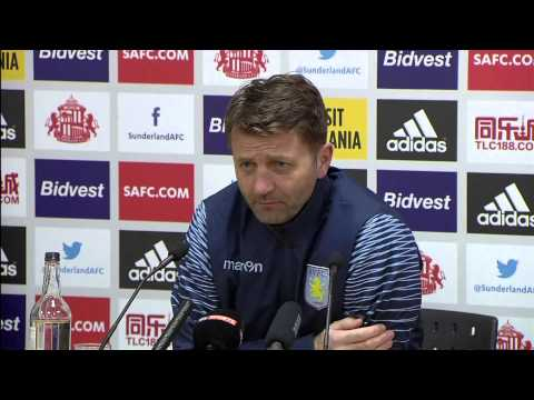 Gus Poyet & Tim Sherwood after Sunderland 0 - Aston Villa 4