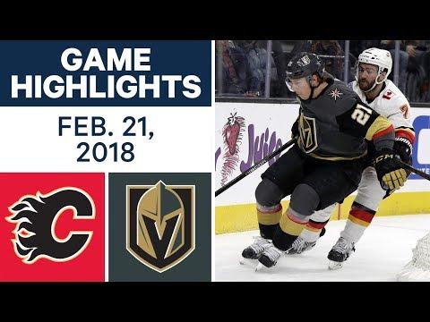 NHL Game Highlights  Flames vs. Golden Knights - Feb. 21, 2018