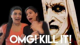 REACTING TO HORROR MOVIE TRAILERS!!!