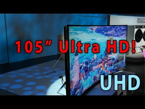 World's LARGEST and only CURVED Ultra HD TV!! 105