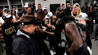 Saints Lockeroom Celebrating After Wining Division