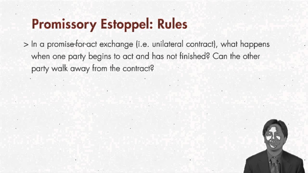 doctrine of promissory estoppel Define estoppel estoppel synonyms, estoppel pronunciation, estoppel translation, english dictionary definition of estoppel n law a bar that prevents a person from.