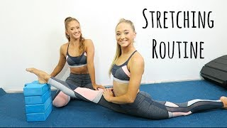 Leg Flexibility Stretch Routine! | The Rybka Twins