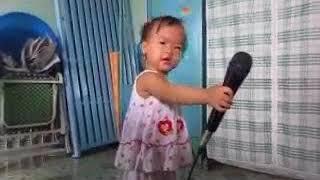 Be Tam 19 thang tuoi hat karaoke bai  Di hoc ve hay hơn bé Xuân M  mp4
