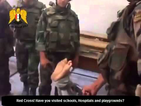Al Assad uses schools as prisons to humiliate and torture captives in Syria.mp4 ‏