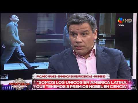 """Facundo Manes, el médico del nuevo Milenio, pasó por """"Intratables"""""""